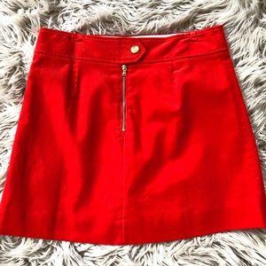 J Crew Mini Skirt - Deep Orange